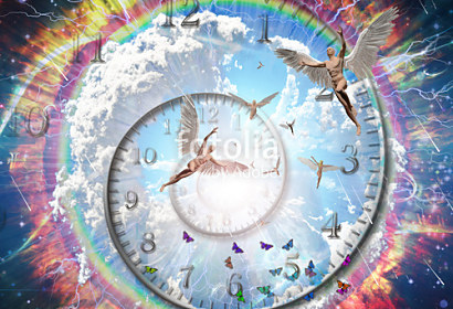 Fototapeta Angels in heaven clock ft-227123200