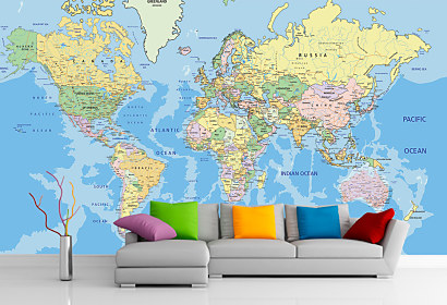 Fototapeta Politic World Map 1024